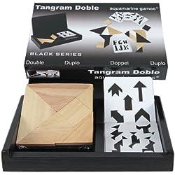 Tangram doble en estuche de madera