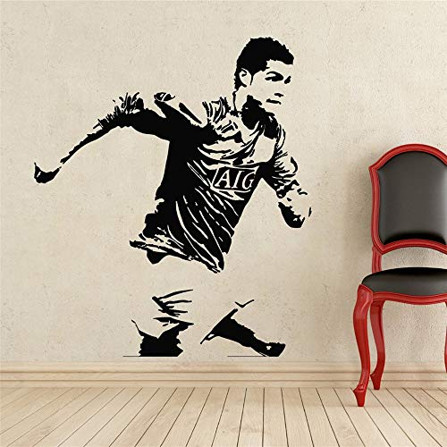 jiushizq DIY tapete wohnkultur Sport fußball wandaufkleber PVC Vinyl abnehmbare Wand fußball Run weiß l 90x116 cm (Smart-phone In Der Indischen Preis)