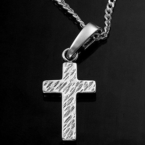 Jesus Kreuz Anhänger mit Halskette 925 Silber Damen Herren Silberkreuz mit Venezianer Kette 45cm Taufe Konformation -verschiedene Model #1751 (14 Silberkreuz) - 2