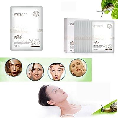 Face Mask,Fulltime(TM) 1Set 10 Pcs Snail Moisturizing Face Mask Skin Care Moisture by Fulltime