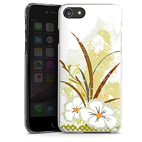Apple iPhone X Silikon Hülle Case Schutzhülle Flower Grün Muster Hard Case transparent