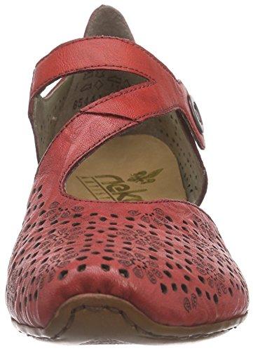 Rieker 43788 Women Closed-toe, Chaussures à talons - Avant du pieds couvert femme Rouge - Rot (flamme/flamme / 33)