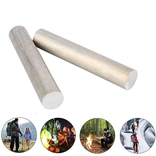 Aolvo Notfall Fire Starter 99,99% Magnesium Metall Rod MG Fire Starter Rod für Survival Camping Wandern Reisen-90mm x 16mm (Einfache Menschliche Rod)