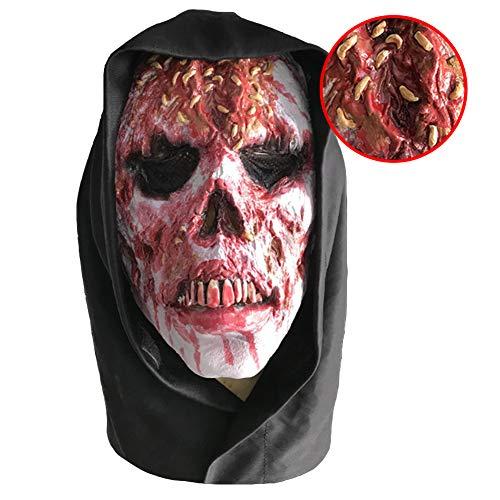 Frau Verlassene Kostüm - Halloween Walking Dead Vollkopf Maske, Resident Evil Monster Maske, Zombie Kostüm Party Latex Maske