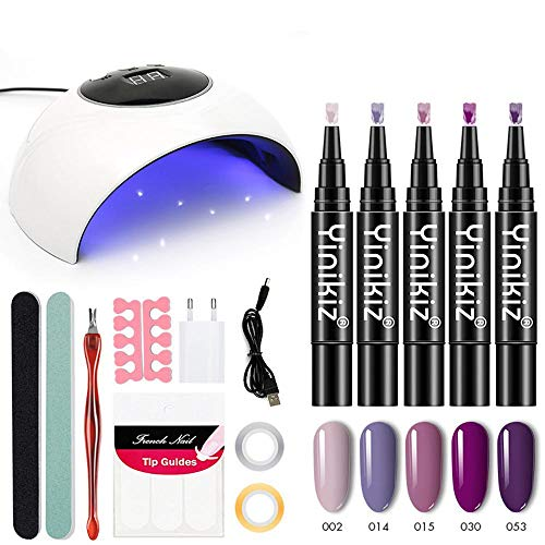 Nagellackstift, Tränken Sie UV-LED-Nagel-Lampe, Schnelles Gel 3 In 1 Nagel-Kunst-Entwurfs-Stift, Nagelgel-Anstrich-Lack-Installationssatz 11 Stücke Für Mädchen/Dame ()