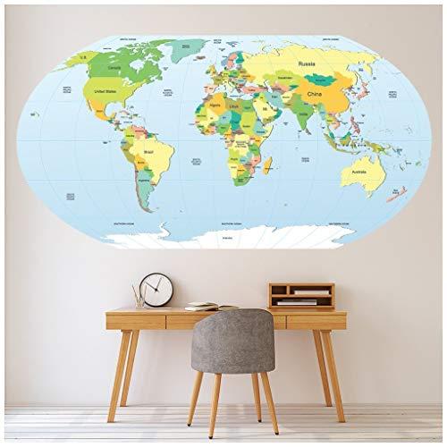 Azutura Mapa Mundo político Educativo Vinilos Disponible