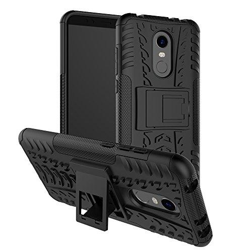 SPAK Xiaomi Redmi 5 Plus Funda,Silicona Gel TPU Interna y PC Cubierta Diseño de la Armadura Híbrida de Doble Capa de Protección Shell Duro Caso de la Contraportada para Xiaomi Redmi 5 Plus (Negro)
