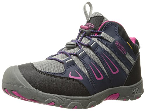 Keen Unisex-Kinder Oakridge Mid WP Trekking-& Wanderstiefel, Mehrfarbig (Dress Blues/Very Berry), 36 EU