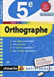 Orthographe 5e
