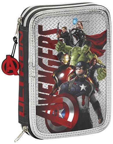 Avengers Age of Ultron – Plumier Doble pequeño, 34 Piezas (SAFTA 411527054)