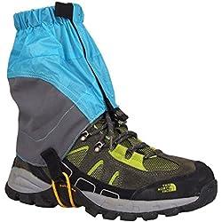 Eagsouni® 1 Par Austable Polainas Impermeable Tobillo para Excursionismo Nieve Alpinismo Acampada Senderismo Caminando