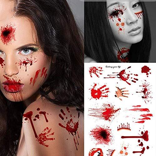 XJIUER Halloween Dekoration Horror Realistische Blut Narbe
