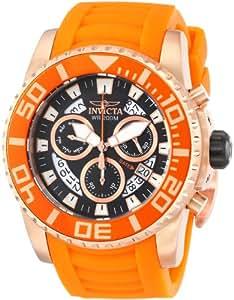 Invicta Herren-Armbanduhr XL Chronograph Quarz Kautschuk 14676