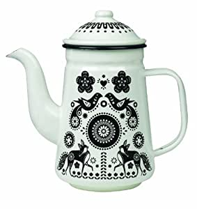 Folklore Enamel Tea/ Coffee Pot