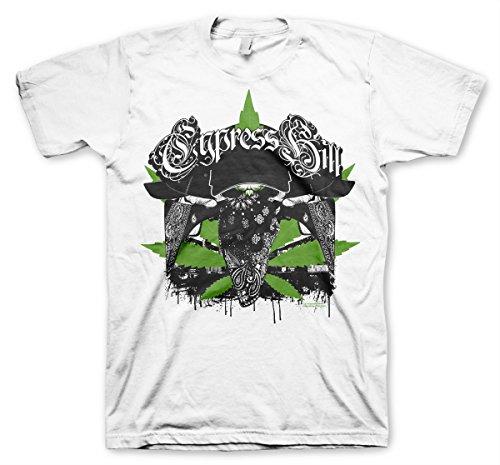 Cypress Hill Officiellement sous Licence hoodlum T-Shirt Pour Hommes (Blanc), X-Large