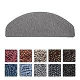 Beautissu® Set da 15 tappetini gradini scale ProStair 56x20cm pratico retro adesivo ottimale angolatura - grigio chiaro