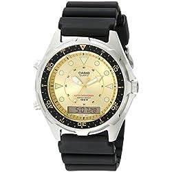 Casio Hombre amw320d-9ev Ana-Digi reloj de buceo de alarma y cronógrafo
