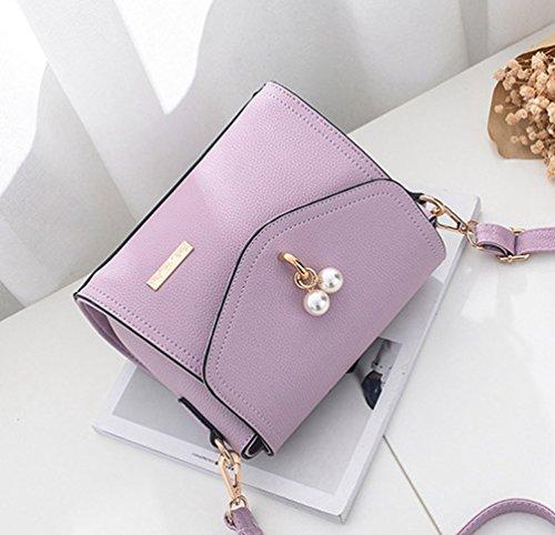 WanYang Donna Borsa Quadrata Piccola Eleganti Mini Borsa A Tracolla Borse A Spalla Per Partito E Shopping Viola