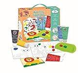 Joustra 41923–Mi Primer Finger Color–Producto para niños pequeños, 5Tubos Dedos Color Mixto, 1Caja, 1Cuaderno de Dibujo, poliproileno Bar
