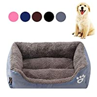 Fnova Dog Bed, Premium Soft Pet Sofa Cats Bed, Washable, Breathable, Comfortable Dog Pet Warm Basket Bed Cushion