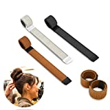 Bestidy 3PCS Perruque de cheveux Bun Disk Maker Donut Hair Piece Bob Maker Outil cheveux Light Golden Black...