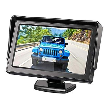 Dachkante-Einparkhilfe-Rckfahrkamera-integriert-in-3-Bremsleuchte-Kamera-fr-MB-W906-Sprinter-Transporter-VW-Crafter-43-Zoll-DVD-Monitor-TFT-Bildschirm-Rckfahrkamera-LKW-KFZ-LCD-Display