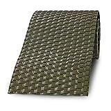 Dekorative PE-Rattan Sichtschutzstreifen für Metall- und Gittermattenzaun | Grün | in 255 cm x 19 cm | Sichtschutz Zaunblende