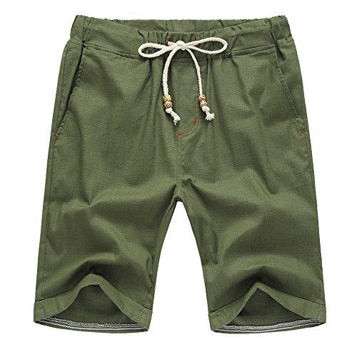 YiYLunneo Herren Sweatshorts Jogginghose Regular Fit Shorts Bermuda Sweatshorts Lässige Gerade Kurze Hose Training Shorts Fitness Sporthose - Entspannt Fit Stretch Jeans