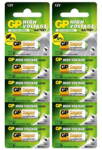 Bater/ía GP Super 12/V 23/A P23GA 8lr932/MN21/V23GA di/ámetro /Ø10
