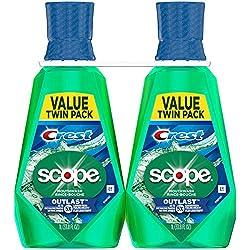 Crest Scope Outlast Mouthwash 2-33.8 fl. oz. Bottles