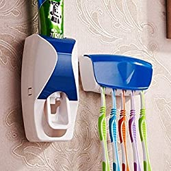 Automatic Touch Toothpaste Dispenser & Brush Holder Set is designed for your convenience. Hygienic and Economy. It is very simple and convenient performance as one-touch method. It prevents waste of toothpaste. Be compatible with any kind of toot...