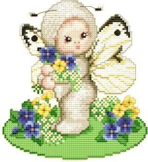 Spring Butterfly Kostüm - Ellen Maurer-Stroh   Kreuzstichvorlage Stickvorlage - Spring - Butterfly Baby