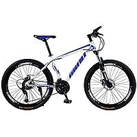Kashyk Vélo VTT VTT VTT 21 vitesses avec suspension intégrale VTT VTT VTT VTT VTT VTT VTT VTT Vélo de course Vélo pour enfants Jeunesse fille garçon femme, ABS, bleu, taille unique