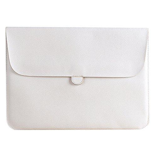 YiJee Laptop Sleeve Custodia Protettiva Borsa per Portatili Caso Portatile 15.4 Pollice Bianco