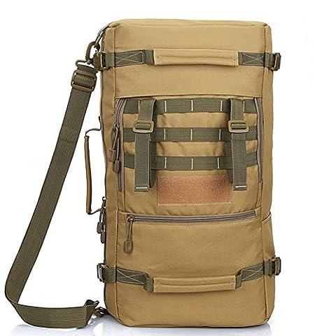 YAAGLE Herren großer Reiserucksack Wanderruncksack multifunktional Bergsteigen-tasche Schultertasche (Solid Gold Taschenuhr)