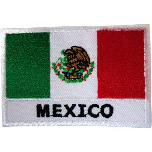 México bandera parche hierro coser ropa México América