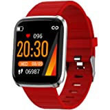 Explopur SmartWatch - IP67 Impermeabile Color Screen Touching Sports Fitness Orologio - 1,3 Pollici BT Smartwatch con frequen