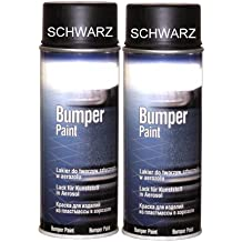 Bote de Spray de 2Parachoques barniz Bumper barniz negro especial para plástico Parachoques