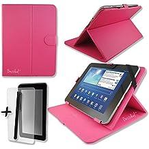 Rose rosa–Custodia in ecopelle schermo e supporto per Arnova 9G2& G324,6cm pollici Tablet + pellicola proteggi schermo e penna stilo