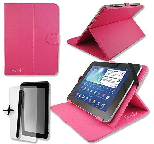 Rose Pink PU Leder Cover Case Protector & Ständer für Easy Home 717,8cm Zoll Tablet PC + Displayschutzfolie und Eingabestift (Easy Home Tablet 7)