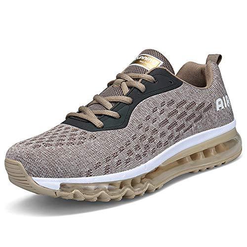 Unisex Herren Damen Sportschuhe Laufschuhe Bequeme Air Laufschuhe Schnürer Running Shoes BLUEORANGE43