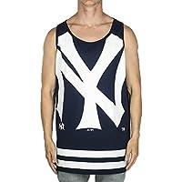 Majestic Hombre Large Graphic Racer Back Vest, primavera/verano, hombre, color azul marino, tamaño extra-large