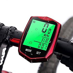 Computadora de Bicicleta, AODOOR Ciclocomputador Impermeable inalámbrico Pantalla LCD Ordenador para Bicicleta Cuentakilómetros Sensor de Movimiento para Ciclismo Realtime Speed Track y Distancia
