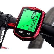 Aodoor Computer da Bicicletta, Tachimetro per Bicicletta Wireless Impermeabile con Display LCD Retroilluminato Contachilometri da Bicicletta Sensore di Movimento