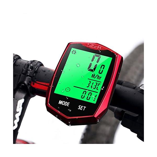 Contachilometri Bici impermeabile Tachimetro Bicicletta Kit completo velocità
