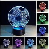 Fußball LED nachtlicht Lampen, 7 Farbe Blinkende Kunst Skulptur Lichter Schlafzimmer Schreibtisch Tisch Nachtlicht Super Geschenke