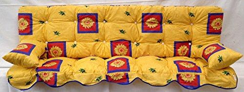 Polsterauflage,Sonnenblumen gelb Hollywoodschaukel, Auflage, Hollywood, Sitzauflage, Gartenschaukelauflage