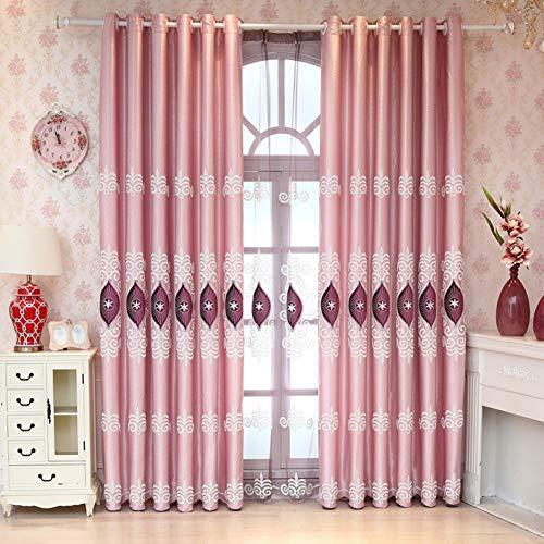 BATSDCB Vorhänge für Wohnzimmer Schlafzimmer, Moderne Jacquard Stock-Bildschirm, Öse teiler vorhänge schürzen 1 Platten-D 300x270cm(118x106inch)