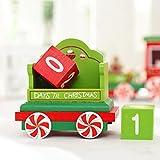 HLHN Weihnachten Countdown Kalender Holz Zug Weihnachten Dekoration Weihnachten Geschenk