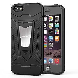 HOOMIL Coque pour iPhone Se, Coque pour iPhone 5, Antichoc Armor Silicone Bumper Case avec